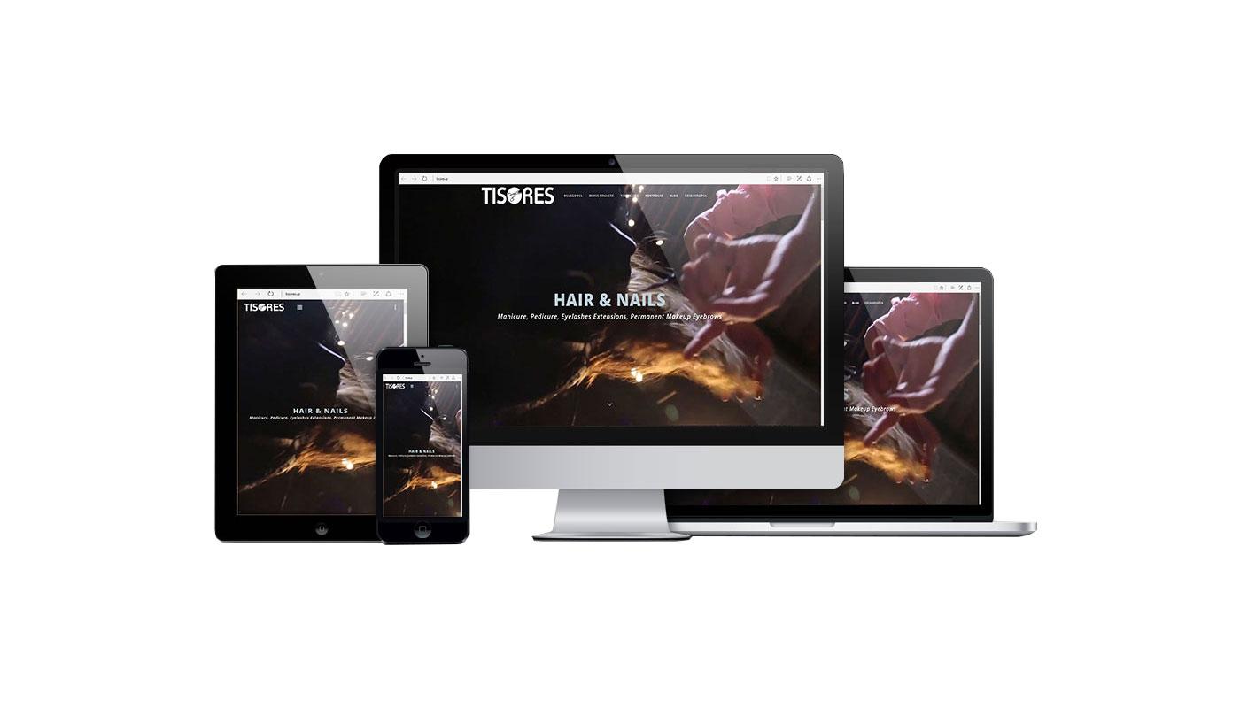 Κατασκευή Website Κομμωτηρίου