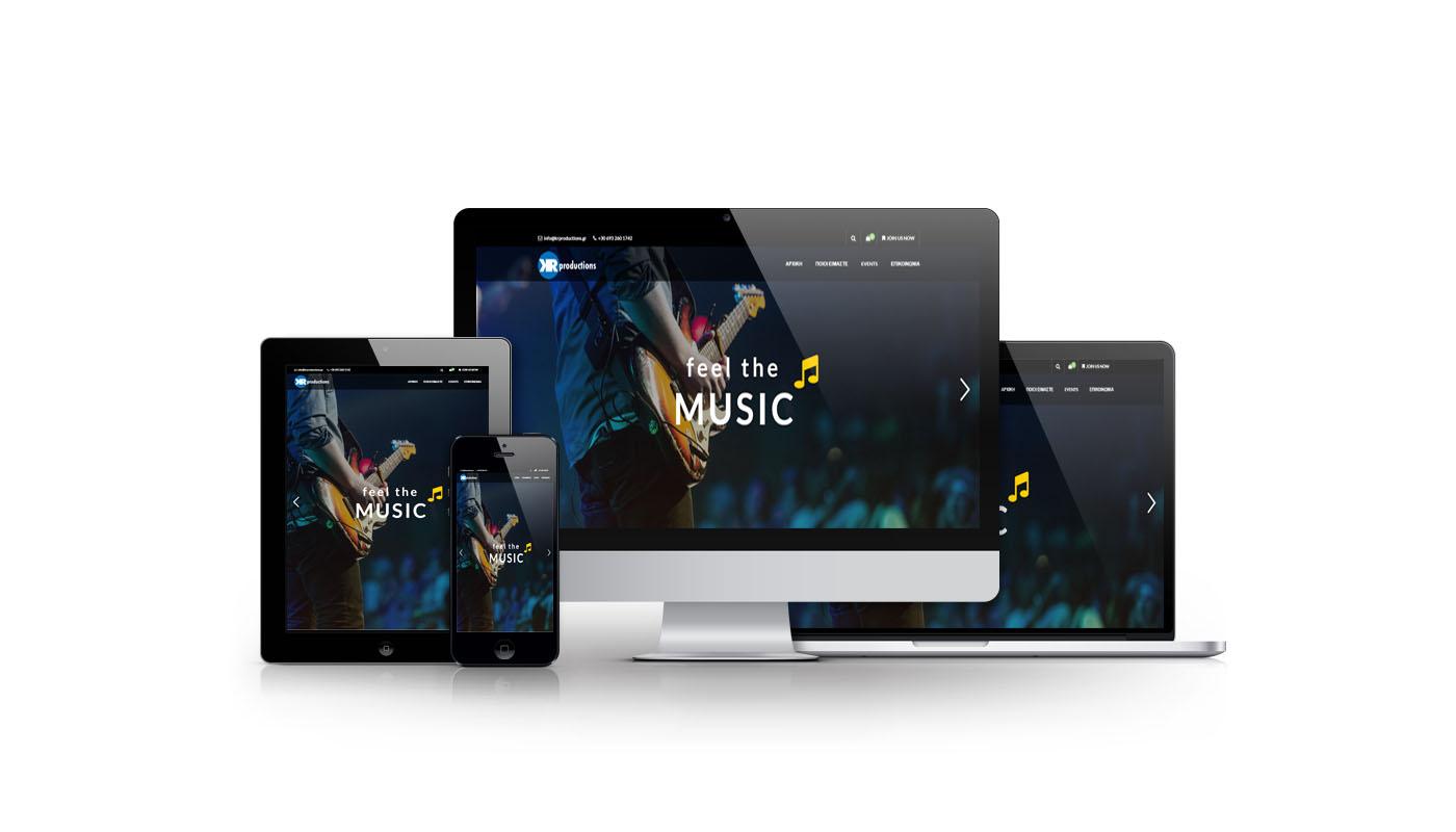 Κατασκευή Website Οργάνωσης Συναυλιών